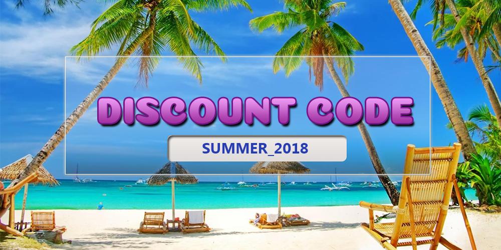 Discount code - Summer_2018