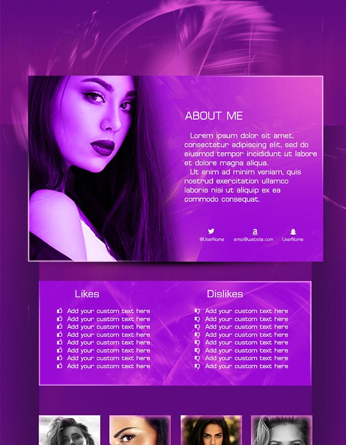 Chaturbate bio design 003 CGC - Deep Purple