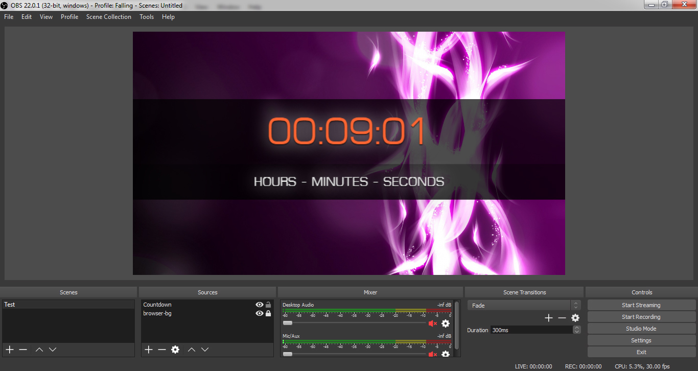 Countdown Timer OBS Overlay